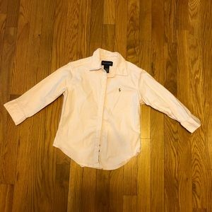 Ralph Lauren Pale Pink Buffon-Down Shirt